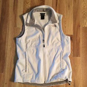 The North Face white vest